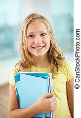 écolière, copybooks