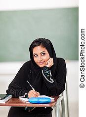 écolière, mignon, arabe