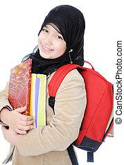 écolière, musulman