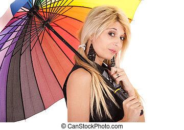 écolière, parapluie