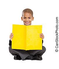 écolier, séance, primaire, plancher
