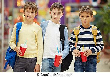 écoliers, moderne