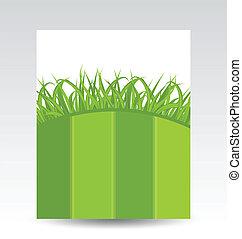 écologie, carte, herbe, vert