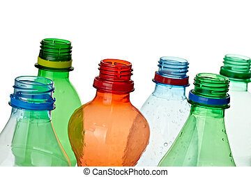 écologie, déchets ménagers, bouteille, vide, utilisé, environnement