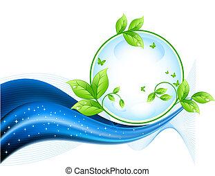 écologie, fond, résumé