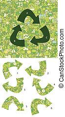 écologie, game., visuel, solution, morceaux, layer!, caché, allumette