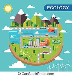 écologie, paysage, ville