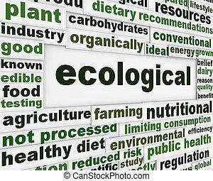 écologique, affiche, concept