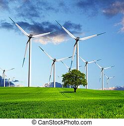 écologique, avenir, industrie