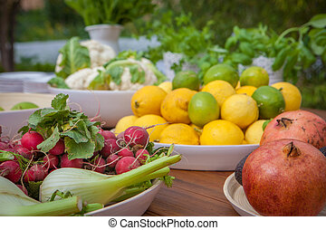 écologique, fruit, légumes, organique