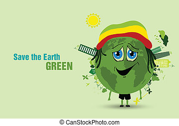 économie, écologie, concept, earth.