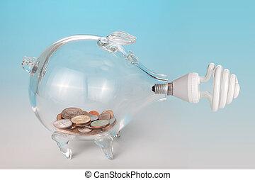 économie, énergie, et, argent