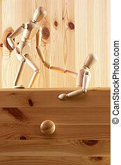 économie, poupée, tiroir, marionnette, évasion, symbolising