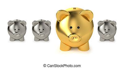 économies, concept, investissement, business
