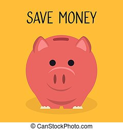 économies, financier, porcin, icône