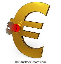 économies, projection, finance, clã©, euro