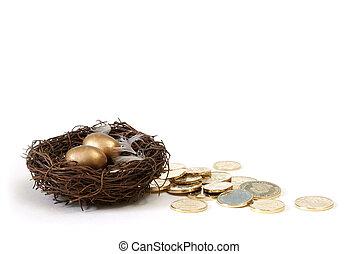 économies retraite, concept