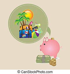 économies, vacances, été