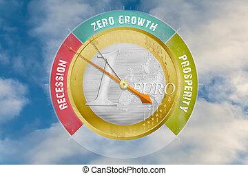 économique, baromètre, indique, une, européen, récession