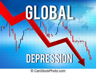 économique, financier, effondrement, crise