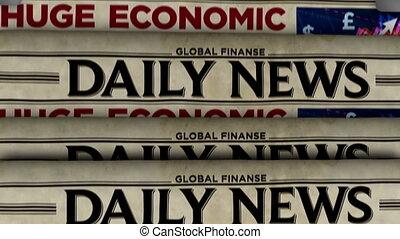 économique, journal, nouvelles quotidiennes, presse, secours, plan