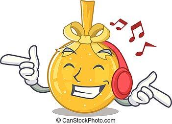 écoute, balle, or, caractère, musique, noël