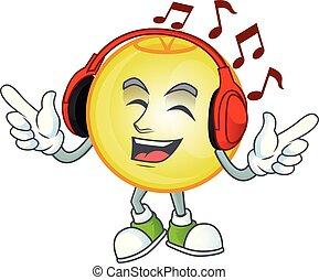 écoute, musique, or, balle, caractère, noël