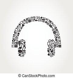 écouteur, musique