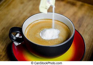 écrémeuse, coffee., tasse