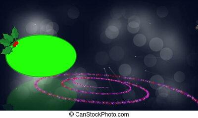 écran, animation, vert, spirale