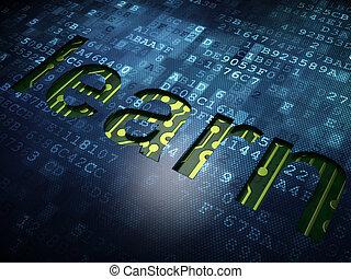 écran, apprendre, fond, numérique, education, concept: