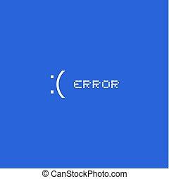 écran bleu, message, erreur