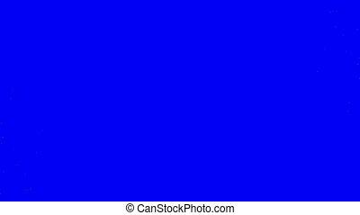 écran bleu, vert, essuyer, particule