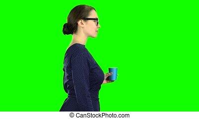 écran, eau, vert, va, verre., prof, boissons