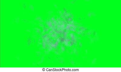 écran, gelée, arrière-plan vert
