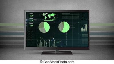 écran, graphiques, lcd, différent