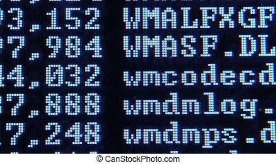écran, informatique, liste, fichier