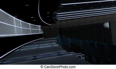 écran, intro, vert, hd, cinéma