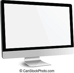 écran, moniteur ordinateur, vide