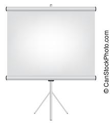 écran, projecteur, illustration