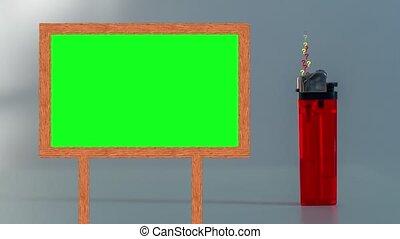 écran, question, vert, briquet, cadre, émerger, marques
