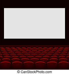 écran, seats., théâtre, cinéma