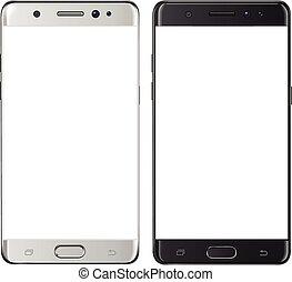 écran, smartphone, isolé, vide