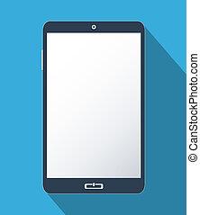écran, smartphone, vide