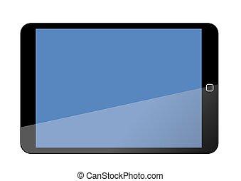 écran, tablette, vide