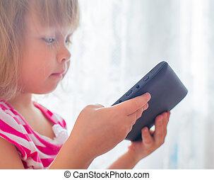 écran tactile, apprentissage, tablette