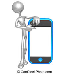 écran tactile, cellphone, présentateur