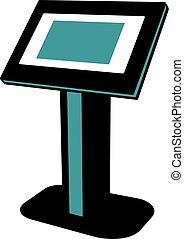 écran tactile, kiosque, interactif