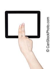 écran tactile, tablette, informatique, à, main