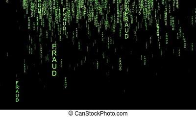 écran, texte, concept, fraude